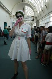 Womens Joker Halloween Costume Nurse Joker Cosplay Joker Costumes Cosplay