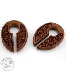 ornamental keyhole wooden ear weights urbanbodyjewelry