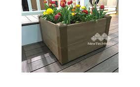 Balcony Planter Box by Wood Planter Box Composite Decking Newtechwood Ultrashield
