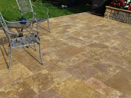 Patio Paver by Travertine Patio Stones Antique Gold Travertine French Pattern