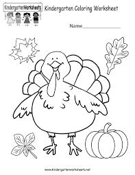 free thanksgiving worksheets for kindergarten worksheets