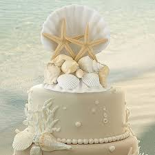 themed wedding cake toppers coastal elegance seashell cake topper