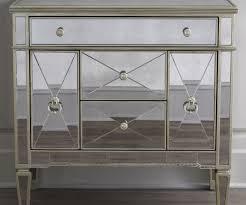 admirable drawers silver nightstand mirrored nightstands mirrored