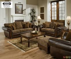 zephyr chenille and leather living room sofa loveseat set sofa