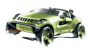 jeep green jeep to storm detroit with renegade hybrid concept