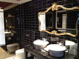 Bathroom Mirror Shots by Black And Gold Bathroom Plus Wall Mounted Clear Glass Mirror