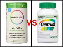 rainbow light vitamins mens rainbow light men s one vs centrum multivitamin review the truth