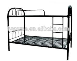 round tube metal 2 tier bed two level bed metal frame bunk