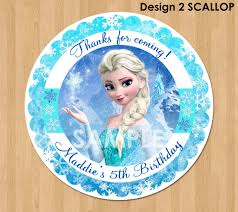 frozen favor tag or label disney elsa frozen birthday party