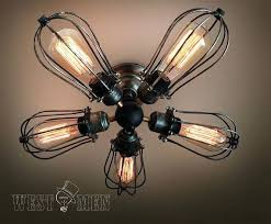 Light Bulbs For Ceiling Fans Ceiling Fan Ceiling Fan Edison Bulb 5 Arm Industrial Ceiling