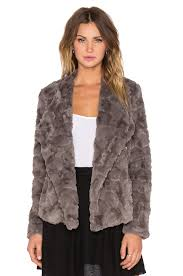 bb dakota bb dakota faux fur jacket in grey revolve