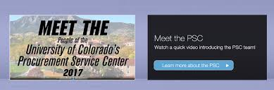 procurement service center university of colorado
