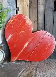 rustic wood heart chippy paint heart large wood heart wood