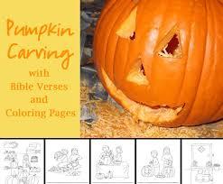 pumpkin carving with bible verses celebrating holidays