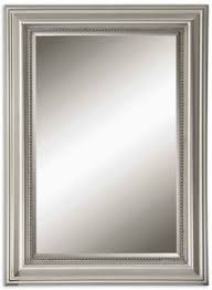 Bathroom Mirrors Framed by Allen Roth 30 In X 40 In Silver Beveled Rectangle Framed French