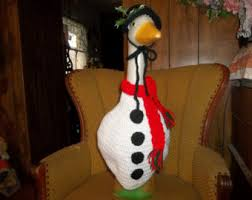 Outdoor Christmas Goose Decorations by Garden Statue Etsy