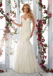 Wedding Dresses With Straps Morilee Bridal Madeline Gardner Embroidered Lace Appliques On Soft