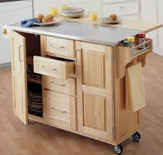 kitchen oak wood movable kitchen island with corian countertop