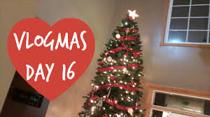 huge christmas tree vlogmas day 16 youtube
