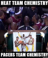 Pacers Meme - nba meme team on twitter heat team chemistry vs pacers team