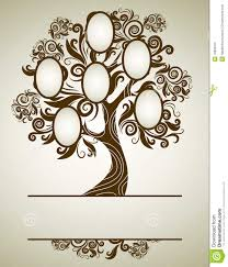 vector family tree design with frames stock vector illustration