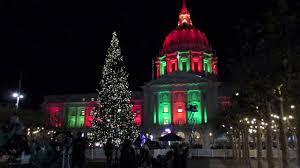 san francisco tree lighting 2017 civic center plaza tree lighting ceremony san francisco california