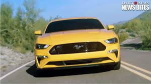 mustang ford car ford premieres refreshed 2018 mustang