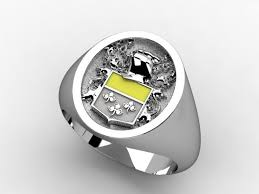 family ring crafted family crest rings by paul michael design