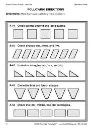16 best images of following directions worksheets for kindergarten