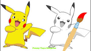 how to draw real talking pokemon pikachu song video kids funny