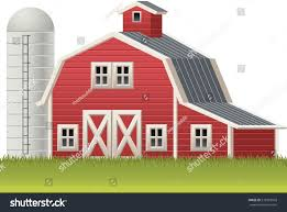 red barn silo symbol stock vector 578359093 shutterstock