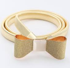 gold bow belt free shipping new hot belts gold plated fashion the world