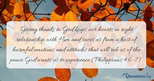 why is giving thanks to god important