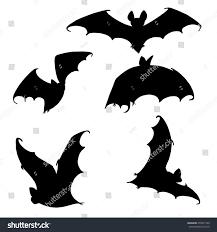 set bats collection bats flying bats stock vector 478431700