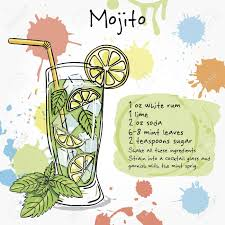 margarita glass cartoon mojito hand drawn illustration of cocktail including recipes