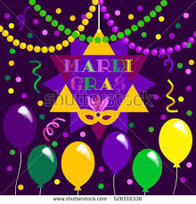fancy mardi gras mardi gras celebration freehand fancy stock vector