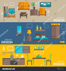 home interior design kitchen bed sitting stock vector 273119717