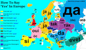 how do you say map in the word yes in european languages etymologymaps