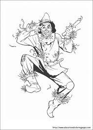 Scarecrow In Free Wizard Of Oz Printable Coloring Pages Fun Wizard Of Oz Coloring Pages