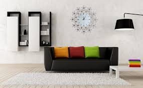Black Wall Bookshelf Cute Round Decorative Wall Clocks For Home Decorating Ideas With