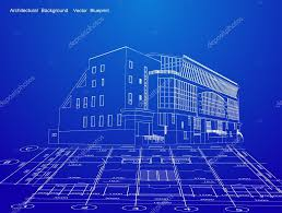 Blueprint Of House Architecture Blueprint Of A House Vector U2014 Stock Vector Emaria