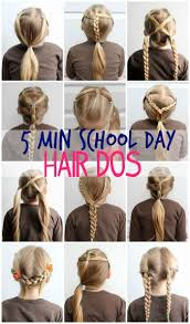 hair style for a nine ye 5 minute school day hair styles hair dos school and easy