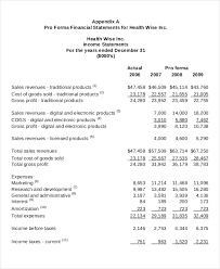 income statement template 9 free excel pdf documents download