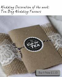 tea bag favors tea bag wedding favours the wedding of my dreams