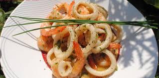 cuisiner les encornets encornets et crevettes à la réunionnaise facile et pas cher