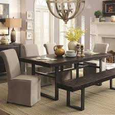 boraam bloomington dining table set full 6 piece dining set with bench coaster keller contemporary del