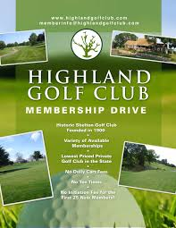 welcome to highland golf club home
