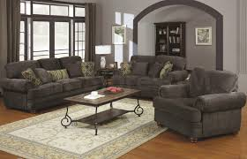 traditional living room furniture with grey sofa in western living