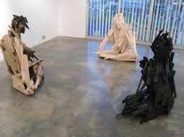 scrap wood sculpture artist uses thousands of pieces of scrap wood to create