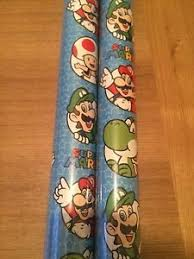 mario wrapping paper nintendo mario gift wrap wrapping paper roll 4 meter ebay
